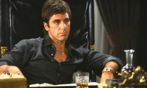 The magnificent Al Pacino in a truly great performance as Tony Montana in Scarface.