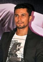 The charismatic Randeep Hooda who has finally come into his own in the Hindi movie industry.