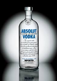 "One of the world's famous vodka brands ""Absolut""."