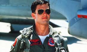 "The charming Hollywood superstar Tom Cruise as Lt Pete ""Maverick"" Mitchell in the Hollywood classic ""TOP GUN""."